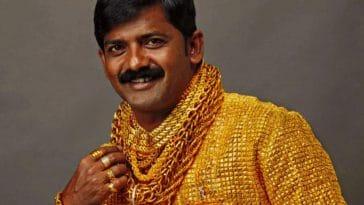 Chemise en or