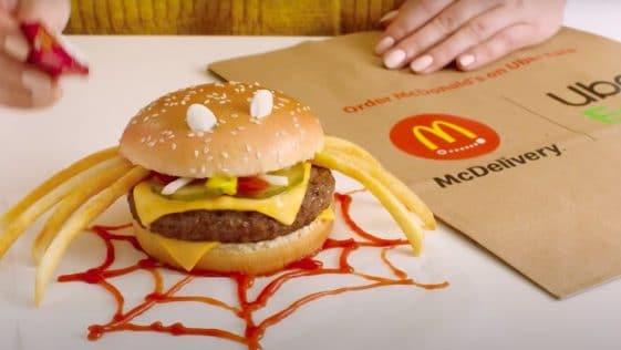 Hamburger McDonald's pour Halloween