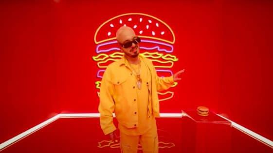 J. Balvin dans une pub McDonald's