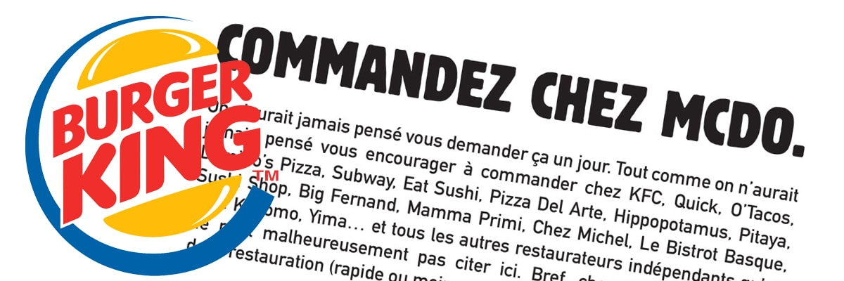Lettre de Burger King