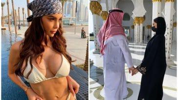 Nabilla visite une mosquée